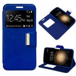 Capa Flip Cover BQ Aquaris U Plus Liso Azul Aquaris U Plus