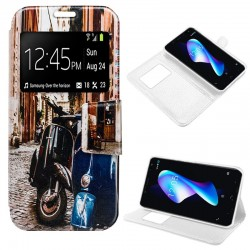 Capa Flip Cover BQ Aquaris V Plus / VS Plus Design Moto Aquaris V Plus