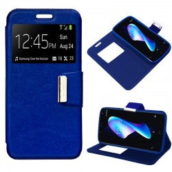 Capa Flip Cover BQ Aquaris V Plus / VS Plus Liso Azul Aquaris V Plus