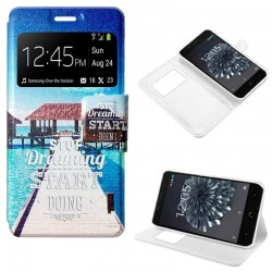 Capa Flip Cover BQ Aquaris X5 Plus Design Beach Aquaris X5 Plus