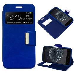 Capa Flip Cover BQ Aquaris X5 Plus Liso Azul Aquaris X5 Plus