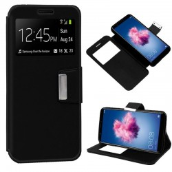 Capa Flip Cover Huawei P Smart Liso Preto P Smart