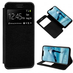 Capa Flip Cover Huawei P Smart Plus Liso Preto P Smart