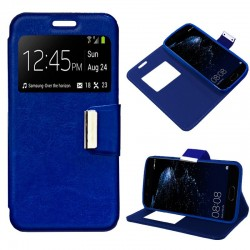Capa Flip Cover Huawei P10 Plus Liso Azul P10 Plus