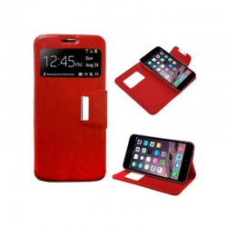 Capa Flip Cover iPhone 6 Plus / 6s Plus Liso Vermelho iPhone 6|6s Plus