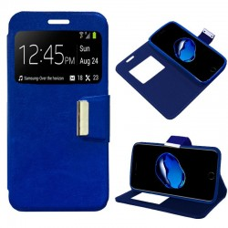 Capa Flip Cover iPhone 7 Plus / iPhone 8 Plus Liso Azul iPhone 7|8 Plus