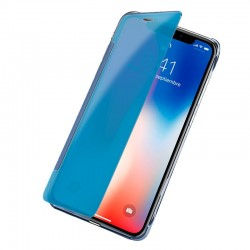 Capa Flip Cover iPhone X / iPhone XS Clear View Azul iPhone X | iPhone XS