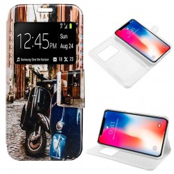 Capa Flip Cover iPhone X / iPhone XS Design Moto iPhone X | iPhone XS