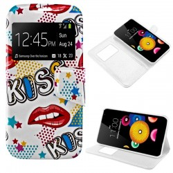Capa Flip Cover LG K4 Design Kiss K4