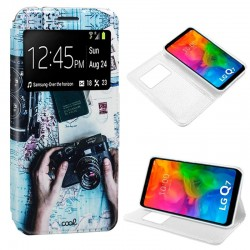 Capa Flip Cover LG Q7 Design Travel Q7