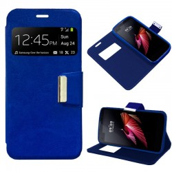 Capa Flip Cover LG X Screen Liso Azul X Screen