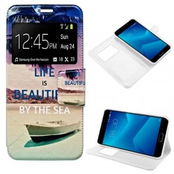 Capa Flip Cover Meizu M5 Note Design Beach M5 Note