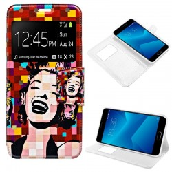 Capa Flip Cover Meizu M5 Note Design Marilyn M5 Note