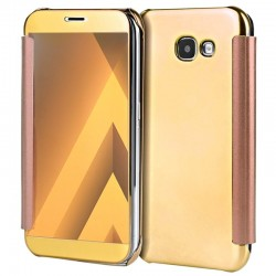 Capa Flip Cover Samsung A320 Galaxy A3 (2017) Clear View Dourado Galaxy A3 2017