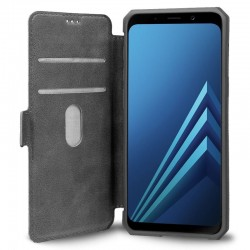 Capa Flip Cover Samsung A530 Galaxy A8 (2018) Leather Gris Galaxy A8 (2018)