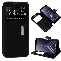 Capa Flip Cover Samsung A605 Galaxy A6 Plus Liso Preto Galaxy A6 Plus