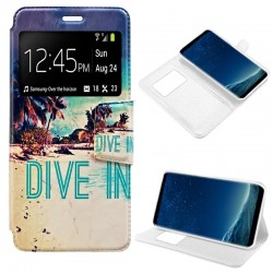 Capa Flip Cover Samsung G950 Galaxy S8 Design Beach Galaxy S8