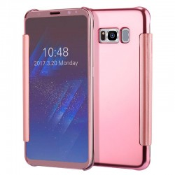 Capa Flip Cover Samsung G955 Galaxy S8 Plus Clear View Rosa Galaxy S8 Plus