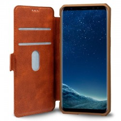 Capa Flip Cover Samsung G955 Galaxy S8 Plus Leather Castanho Galaxy S8 Plus