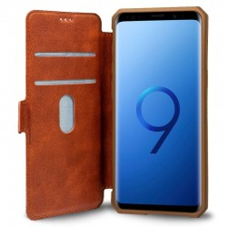 Capa Flip Cover Samsung G960 Galaxy S9 Leather Castanho Galaxy S9