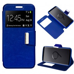 Capa Flip Cover Samsung G965 Galaxy S9 Plus Liso Azul Galaxy S9 Plus