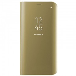 Capa Flip Cover Samsung J730 Galaxy J7 (2017) Clear View Dourado Galaxy J7 2017