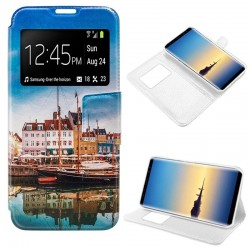Capa Flip Cover Samsung N950 Galaxy Note 8 Design Lago Galaxy Note 8