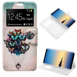Capa Flip Cover Samsung N950 Galaxy Note 8 Design Borboletas Galaxy Note 8