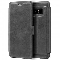Capa Flip Cover Samsung N950 Galaxy Note 8 Leather Gris Galaxy Note 8