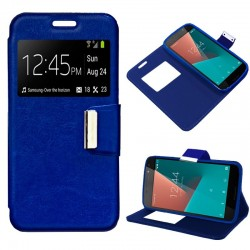 Capa Flip Cover Vodafone Smart N8 Liso Azul Smart N8
