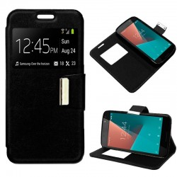 Capa Flip Cover Vodafone Smart N8 Liso Preto Smart N8