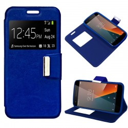 Capa Flip Cover Vodafone Smart V8 Liso Azul Smart V8