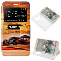 Capa Flip Cover Wiko U Feel Prime Design Car U Feel Prime
