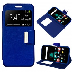 Capa Flip Cover Wiko U Pulse Liso Azul U Pulse