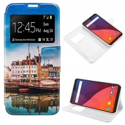 Capa Flip Cover Wiko View Design Lago View