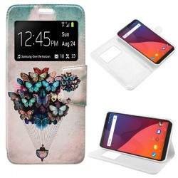 Capa Flip Cover Wiko View Design Borboletas View