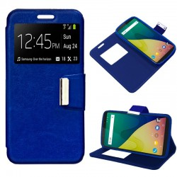 Capa Flip Cover Wiko View XL Liso Azul View XL