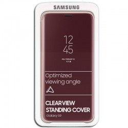 Capa Original Samsung G960 Galaxy S9 Clear View Salmão Galaxy S9