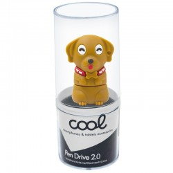 Pen Drive USB x32 GB Silicone Perro Castanho Pen Drives