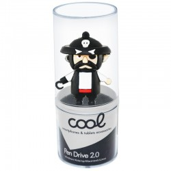 Pen Drive USB x32 GB Silicone Pirata Pen Drives