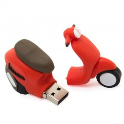 Pen Drive USB x32 GB Silicone Scooter Vermelho Pen Drives