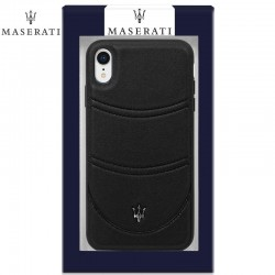 Capa iPhone XR Oficial Maserati Pele Preto iPhone XR