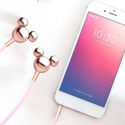 Auriculares 3,5 mm Stereo Oficial Disney Metal Rose Gold Auriculares