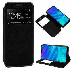 Capa Flip Cover Huawei P Smart Plus (2019) Liso Preto P Smart Plus 2019