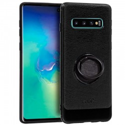 Capa Samsung G975 Galaxy S10 Plus Leather Pele Preto Galaxy S10 Plus