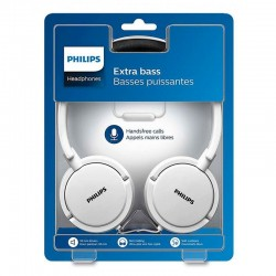Auriculares Philips Extra Bass (Cable Jack 3.5 mm) Branco Auriculares