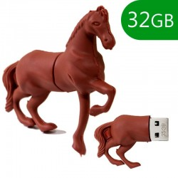 Pen Drive USB x32 GB Silicone Cavalo Pen Drives