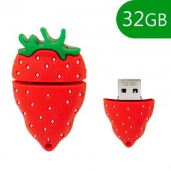 Pen Drive USB x32 GB Silicone Morango Pen Drives