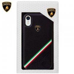 Capa iPhone XR Oficial Lamborghini Pele Preto iPhone XR