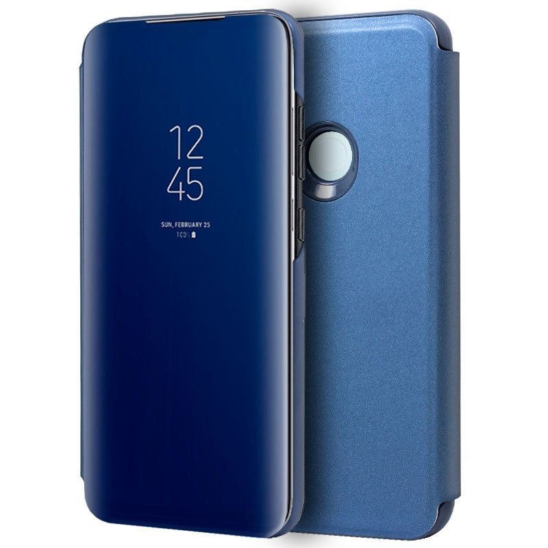 Capa Flip Cover Xiaomi Redmi Note 8T Clear View Azul Redmi Note 8T